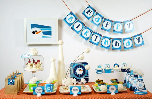 Winter Themed Toddler Birthday Party