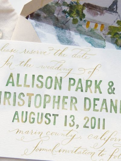 Watercolor Save the Dates thumbnail