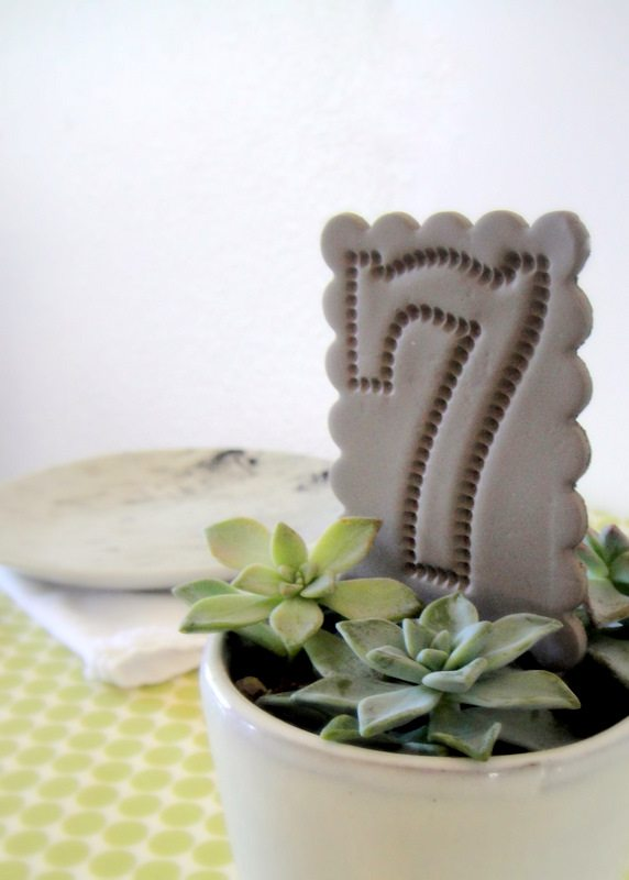 crafts for decor: clay table numbers and flags