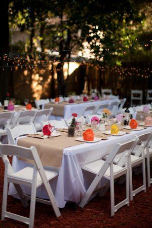 Casual Backyard Wedding Reception a backyard wedding celebration - the sweetest occasion