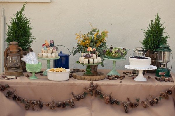 Party Shopping Rustic Campsite Fun The Sweetest Occasion