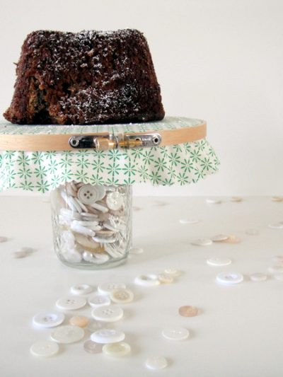 DIY Embroidery Hoop Cake Stand thumbnail