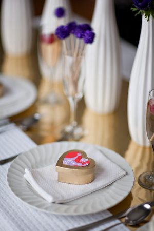 Crafty Purple and Red Valentines Day Inspiration The Sweetest Occasion