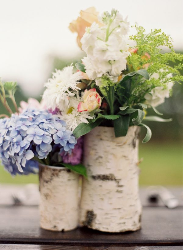 Birch bark centerpieces the sweetest occasion —