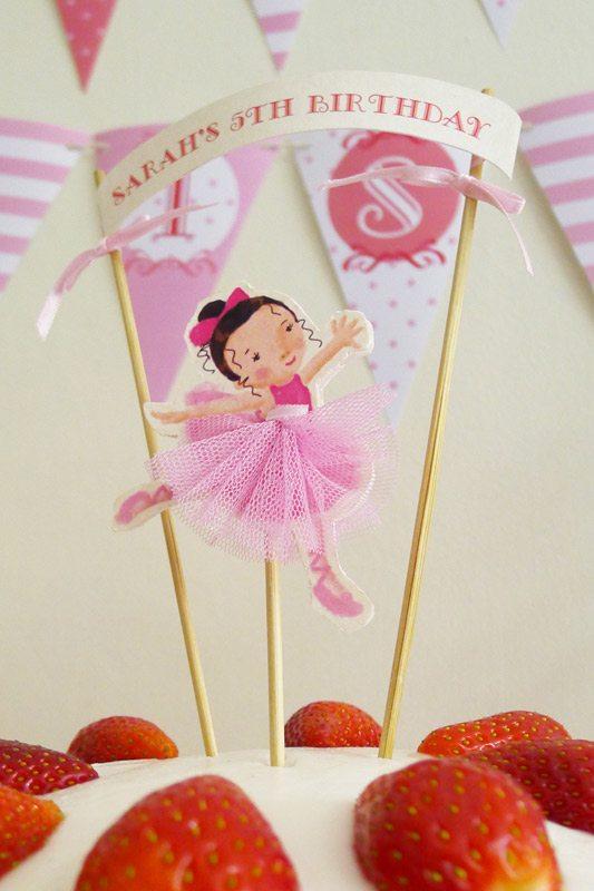 Ballet party ideas on pinterest ballerina birthday for Ballerina cake decoration