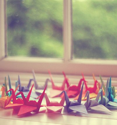 Colorful Paper Cranes thumbnail