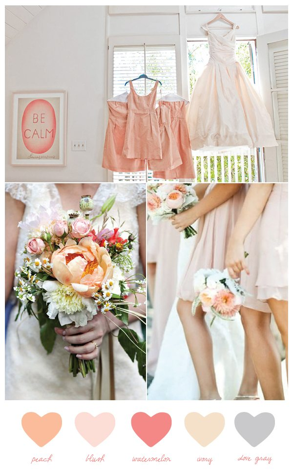 Peach pink wedding colors - Peach and red combination ...