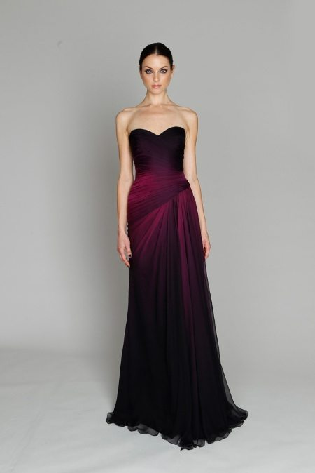Purple ombre prom dress for Purple ombre wedding dress