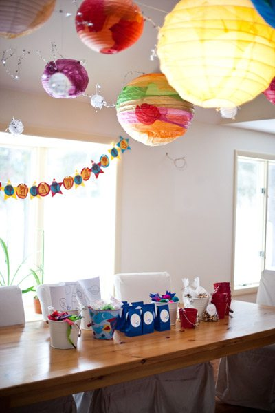 An outer space birthday party the sweetest occasion for Decorations for outer space party