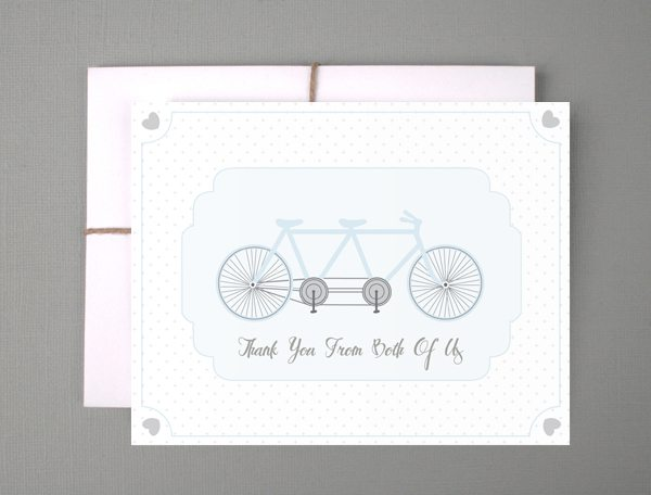 blue bike thank you cards DIY Inspiration: Free Wedding Printables {Part 4}