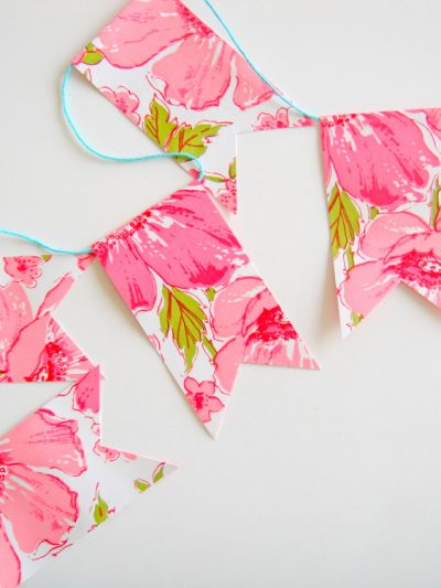 DIY Vintage Contact Paper Flags + Bunting thumbnail