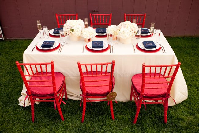 Red white blue wedding ideas the sweetest occasion the - Red white blue decorations ...