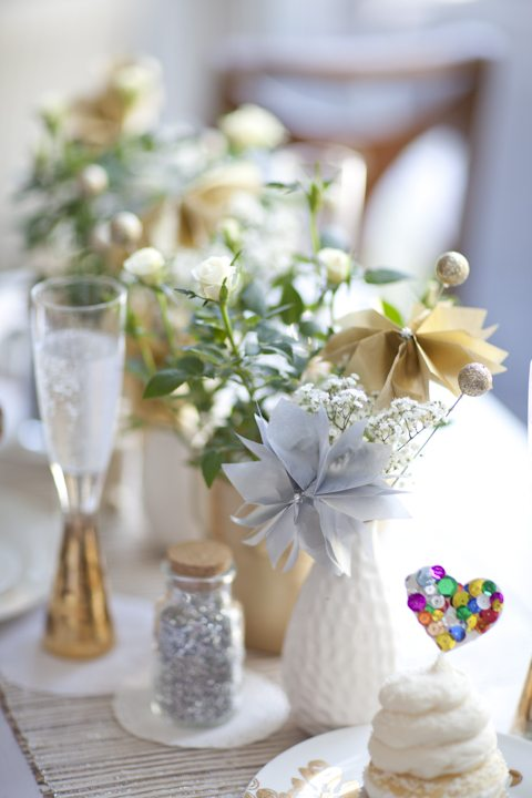 Simple chic sparkling tabletop the sweetest occasion