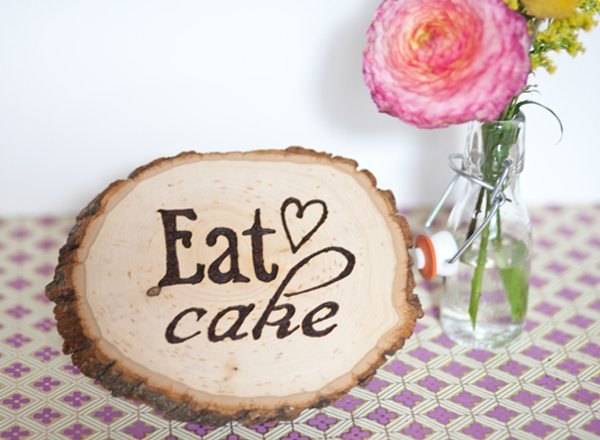 Diy Wood Burning Party Signage The Sweetest Occasion