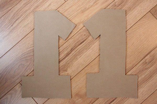Как сделать единицу из картона своими руками