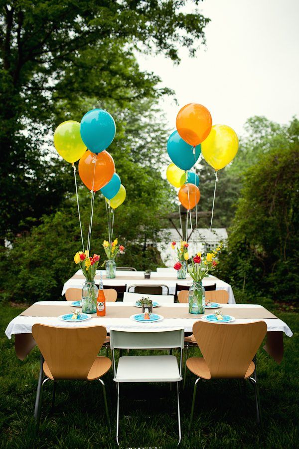 fiesta themed backyard baby shower