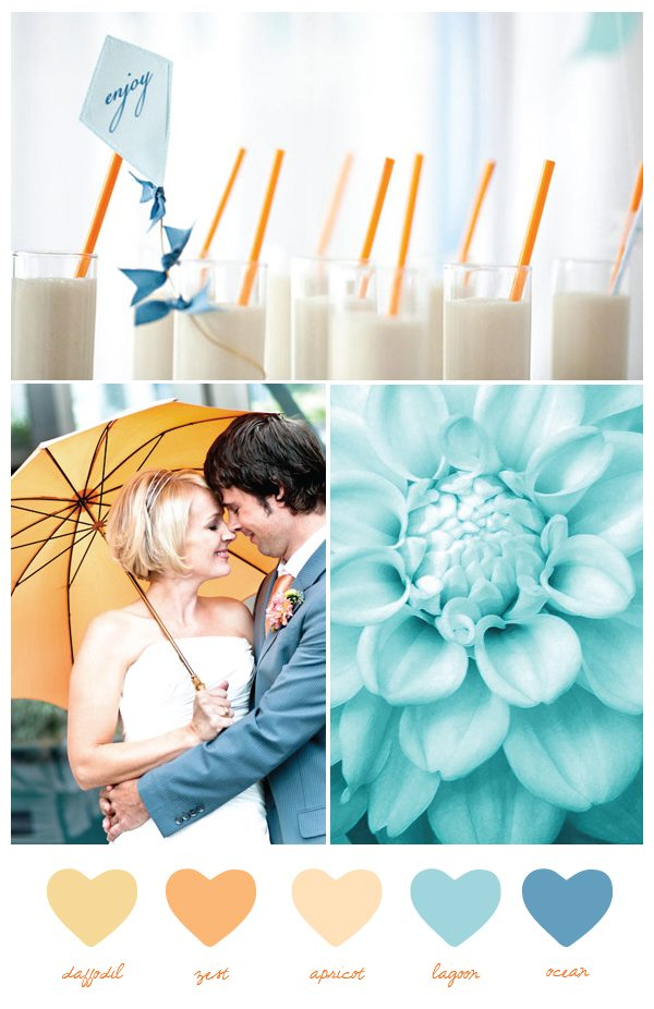 Lovettas blog beach wedding bright wedding color palette pink today 39s color palette was inspired by sunny california colors refreshing color palettes for weddings junglespirit Choice Image