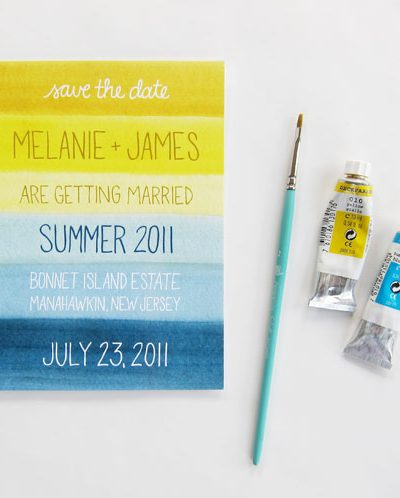 Seaside Inspired Watercolor Save the Dates thumbnail