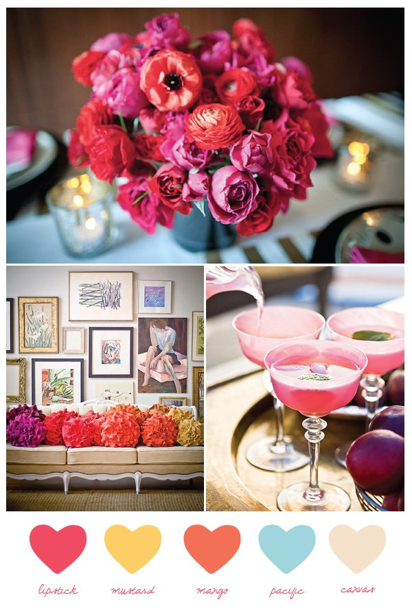 Party palette vibrant summer hues the sweetest occasion for Summer wedding colors pictures