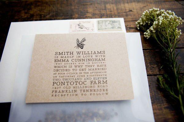 Farm Style Wedding Invitations: Vintage-chic-wedding-invitations