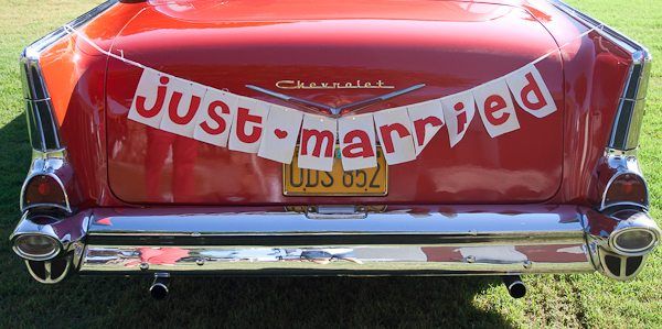 diy just married banner the sweetest occasion