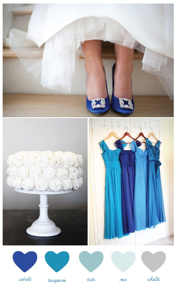 Party Palette: Cobalt + Turquoise - The Sweetest Occasion