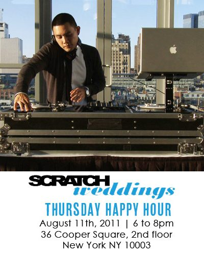 Announcing: Scratch Weddings Thursday Happy Hour thumbnail