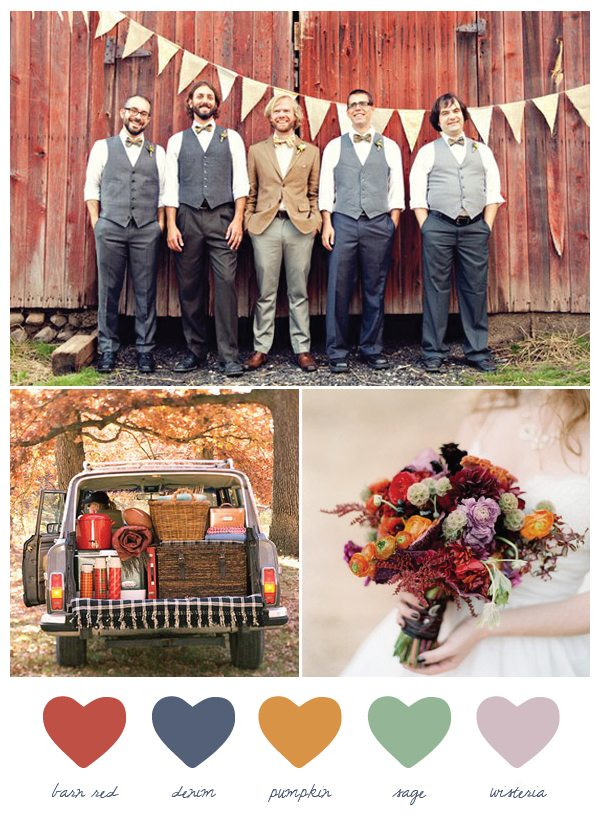 Party Palette: Barn Red + Denim - The Sweetest Occasion