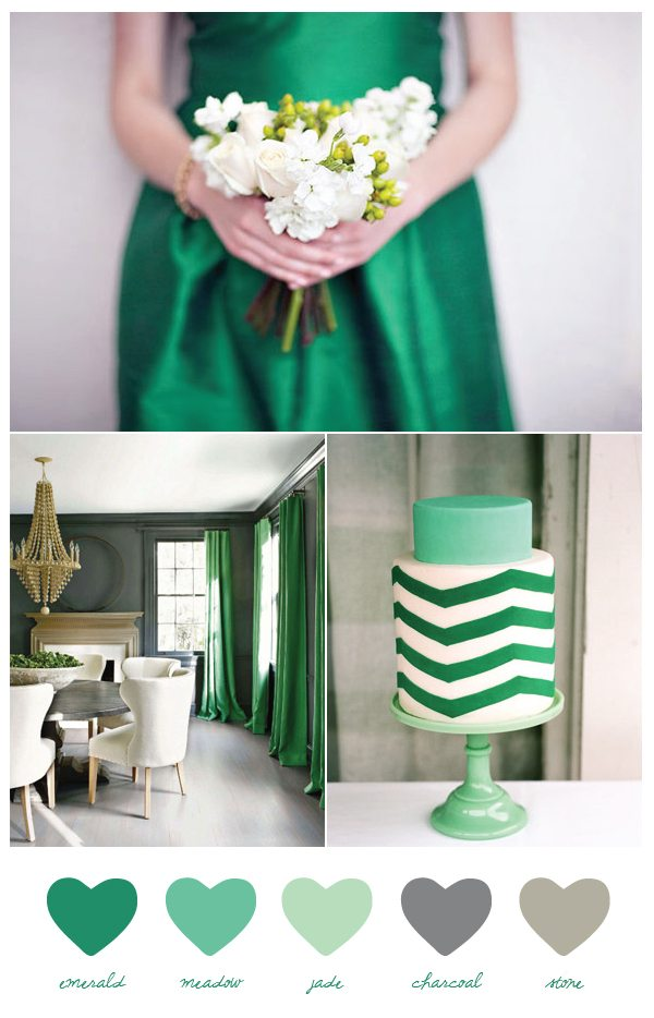 Party Palete Emerald Charcoal The Sweetest Occasion