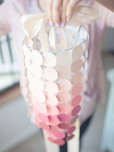 DIY Ombre Paint Swatch Chandelier thumbnail