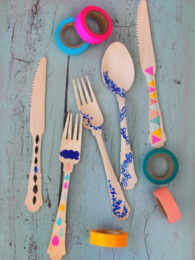 DIY Washi Tape Flatware thumbnail