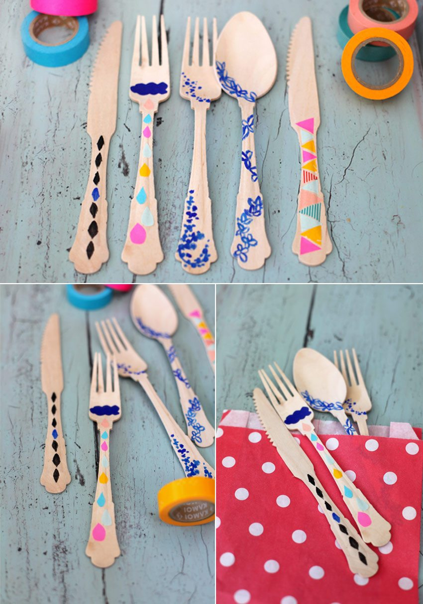 DIY Washi Tape Flatware - The Sweetest Occasion | The Sweetest ...