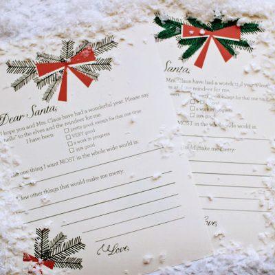 Printable Holiday Wish List thumbnail