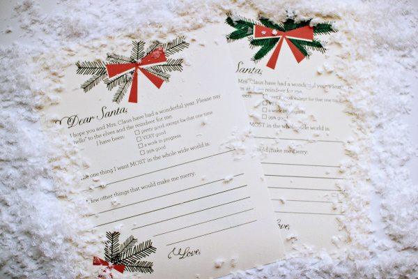 Printable Holiday Wish List The Sweetest Occasion – Printable Santa Wish List