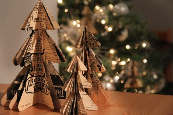 DIY Mini Christmas Tree Paper Ornaments - The Sweetest Occasion