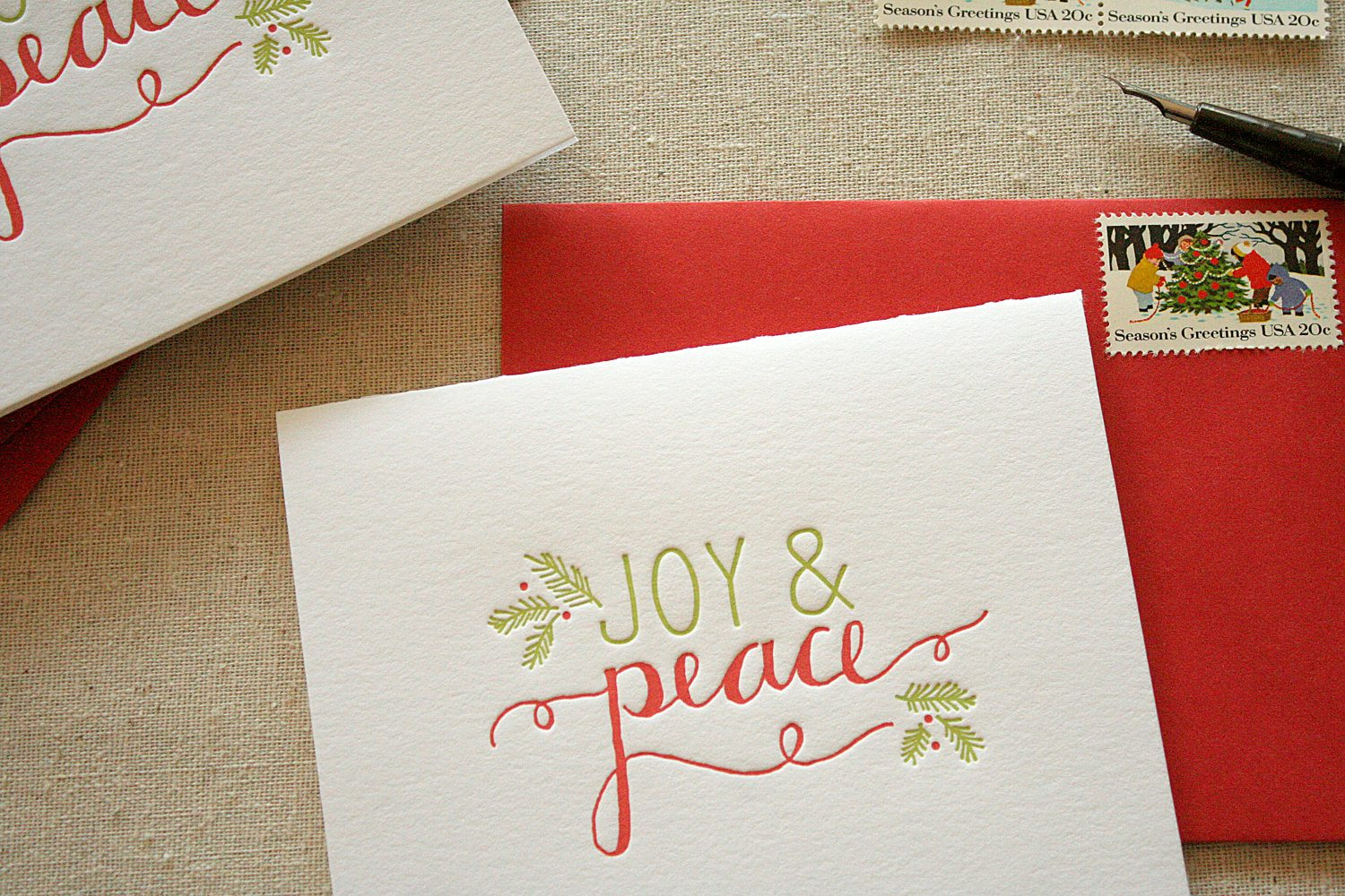 Calligraphy christmas cards the sweetest occasion