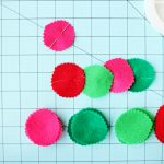diy easy felt garland 2