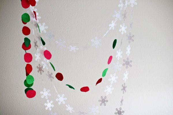 diy felt and snowflake garland