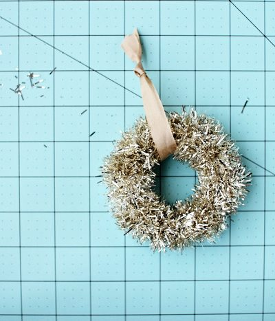 DIY Tinsel Wreath Ornament thumbnail