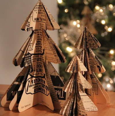DIY Mini Christmas Tree Paper Ornaments thumbnail