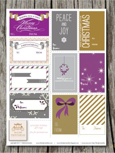 Pretty Printable Gift Tags thumbnail