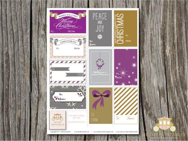Purple Tag: Pretty Printable Gift Tags