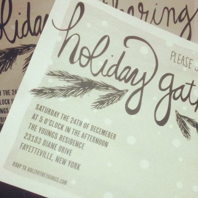 Printable Holiday Party Invitations + Labels thumbnail