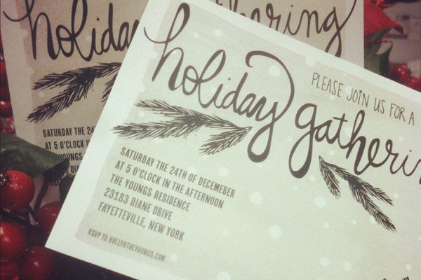 printable holiday party invitations   labels