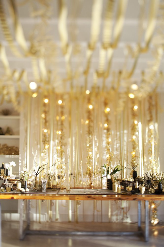 A New Year's Eve Gold Rush Party - The Sweetest Occasion