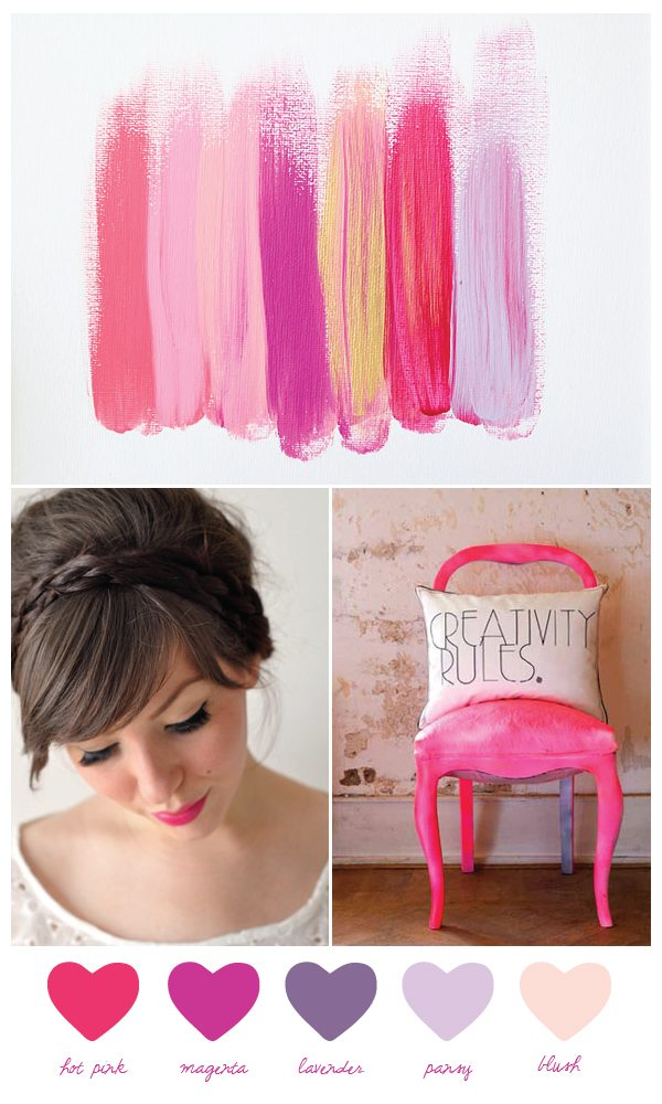 shades of hot pink and magenta This is basically as girly as it gets
