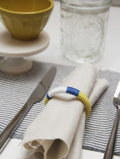 DIY Colorblock Napkin Rings thumbnail