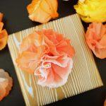 diy paper towel flowers gift