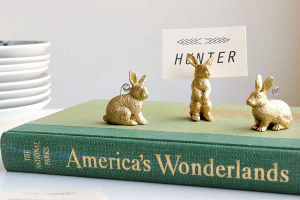 diy bunny placecard
