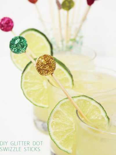 DIY Glitter Dot Swizzle Sticks thumbnail